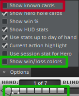Holdem Manager 2 settings