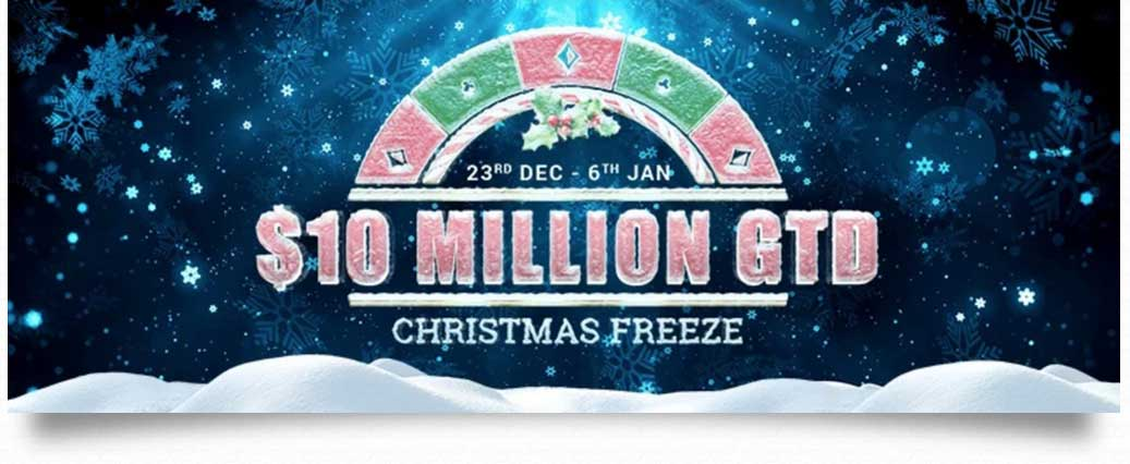 Рождественская онлайн-серия Christmas Freeze в онлайн покер-руме PartyPoker